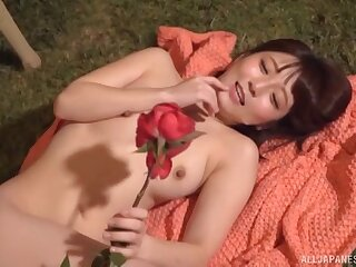 Handsome Asian amateur Sakura Kizuna moans during MMF threesome
