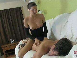 Sadie Holmes's Sorority Ass Slut PEGGING LEOTARD NYLONS