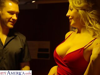 Tall insatiable MILF far huge knockers fucks like a tangible god and is so hot