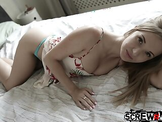 Basic sex poses are perfect for horny and nicely shaped Angel Piaf