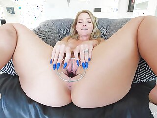 Naughty join in matrimony Lisey loves distension her pussy with regard to sex toys