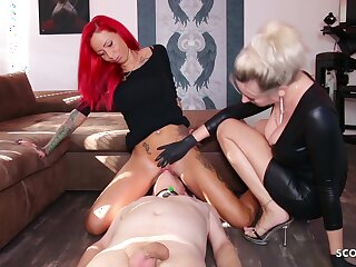 German Domina Let Flunkey Rendered helpless Mistress Teen Pussy To Org