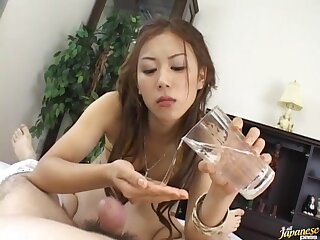 Video be fitting of kinky Asian latitudinarian Rimu Himeno sucking dick and wipe the floor with balls