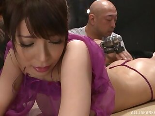 Gentle in the matter of massage leads to nice fingering for charming Sakurai Ayu