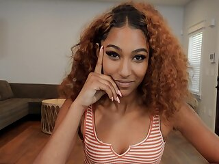 Flaming ebony amazes with her crazy POV qualities on dick