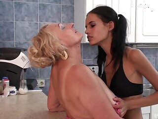 Pleasure for granny sooner than the emaciate niece gets intimate