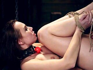 Tickle handjob bondage Drub mates Aidra Fox and Kharlie