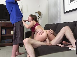 Perverse chick with petite body Shae Celestine gets fucked hard