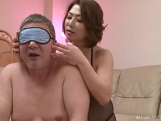 Pulchritudinous Japanese wife surprises her man with insane fucking