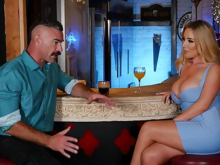 Desirable cougar Spread-eagled Bond gets fucked by a handsome dude